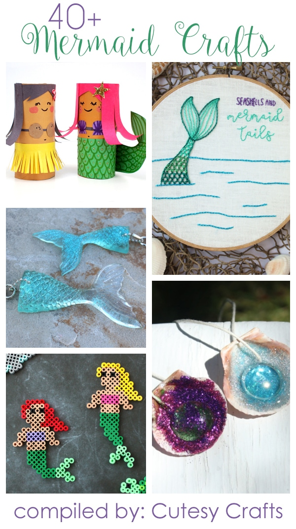 40 Adorable Mermaid Crafts For Kids And Adults Cutesy Crafts