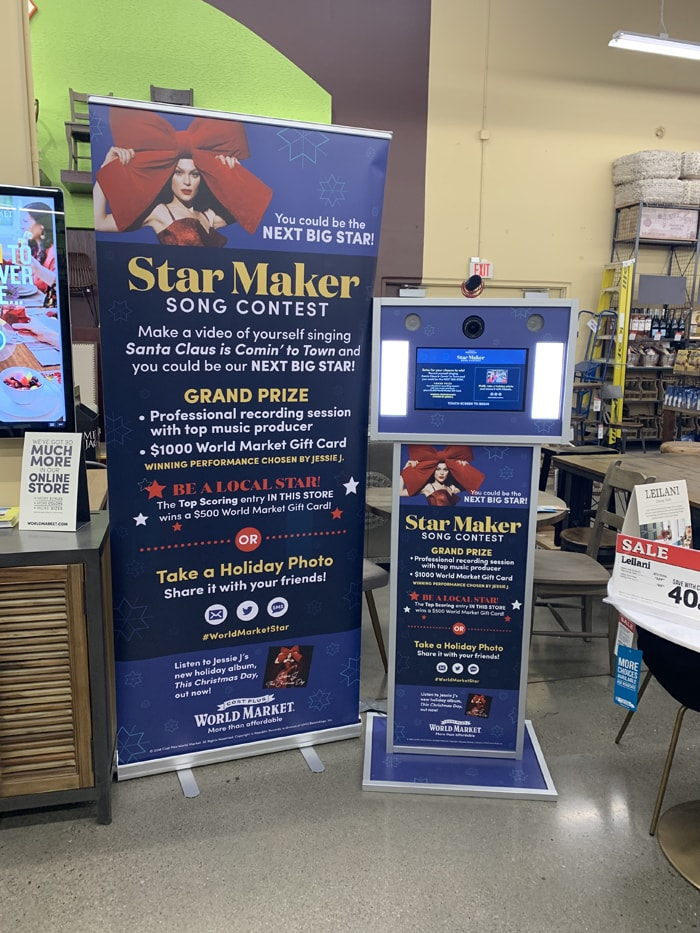 Cost Plus World Market Star Maker Contest Booth