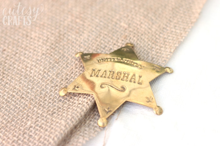 Toy US Marshal Badge