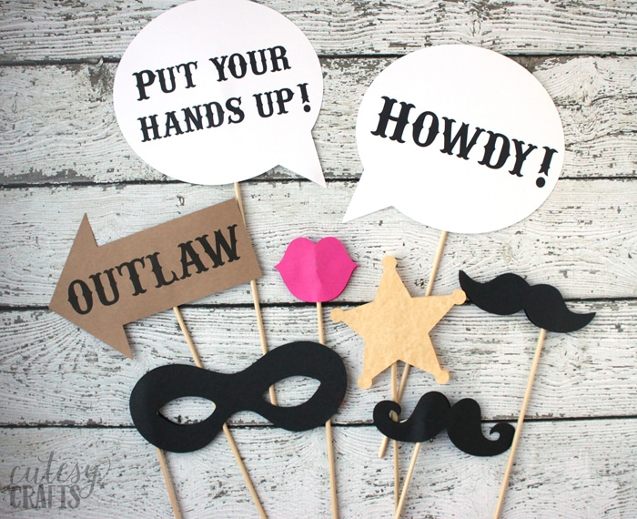 Free Printable Western Photo Booth Props