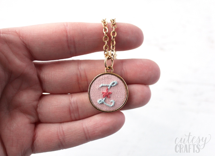 Embroidered Necklace Tutorial