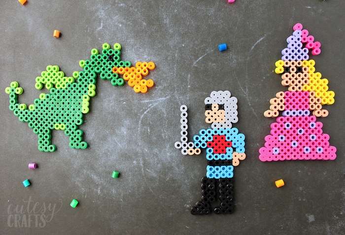 Knight and Princess Perler Bead Designs