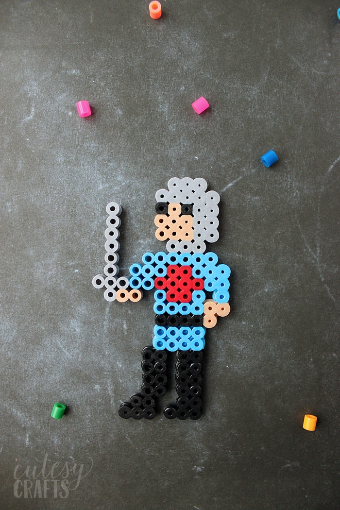 knight perler bead design