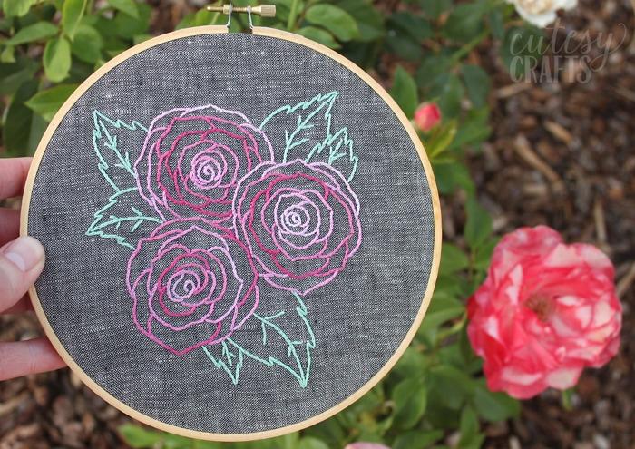 beginner embroidery design