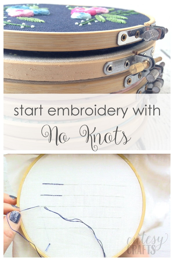 Learn How to Start Embroidery without Knots