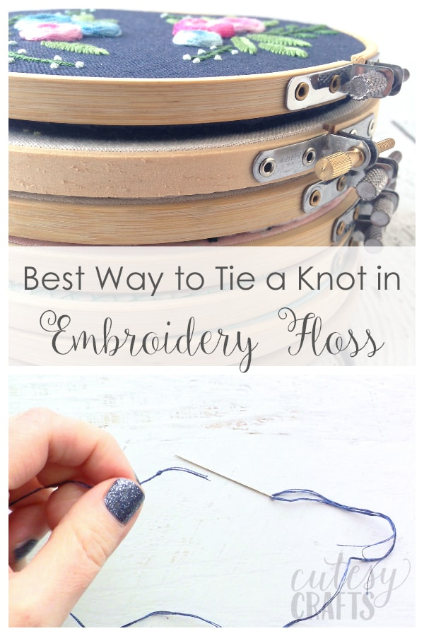 How to Tie Knots in the End of Embroidery Floss with a Quilter's Knot
