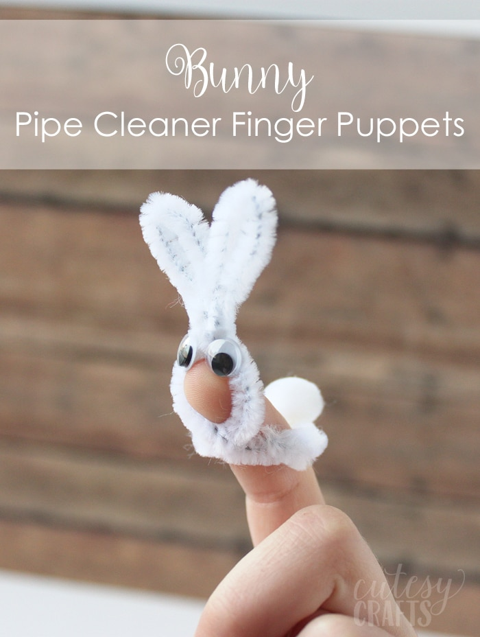 Bunny Pipe Cleaner Finger Puppet - Easter Craft for Kids
