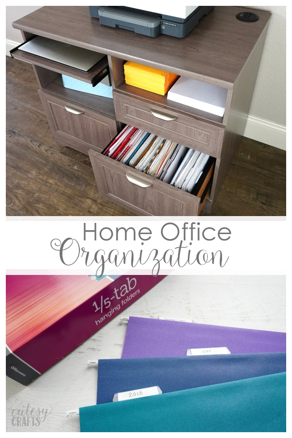 Easy Home Office and File Organization Ideas