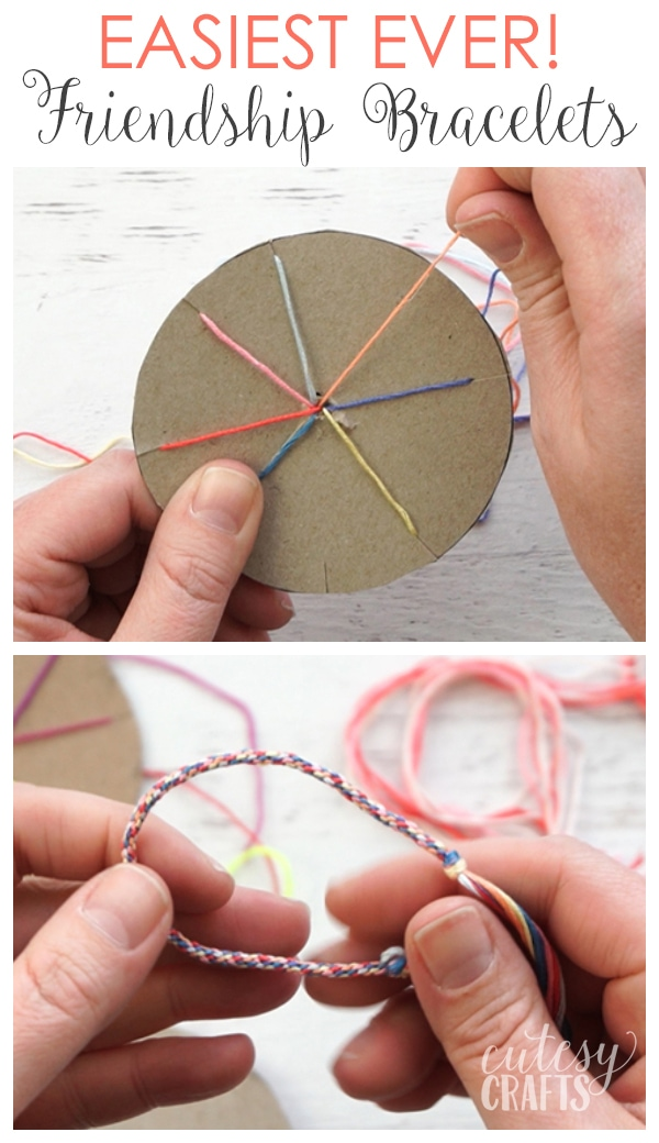 How to Make Friendship Bracelets - The EASIEST way!