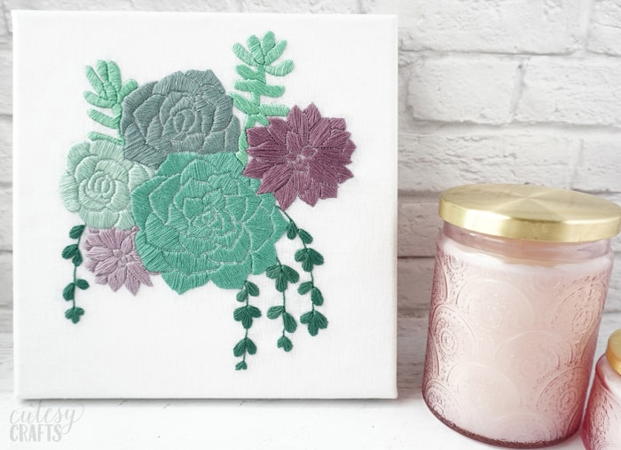 Free Succulent Embroidery Pattern
