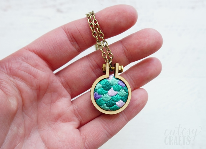 Mermaid Embroidery Necklace