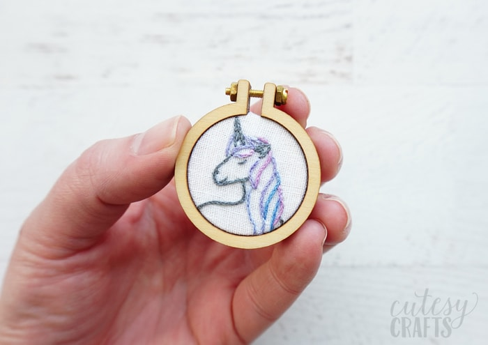 unicorn mini embroidery pattern