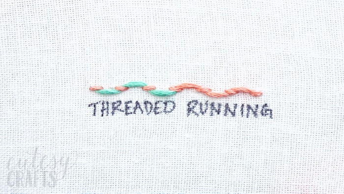 How to do a Threaded Running Stitch