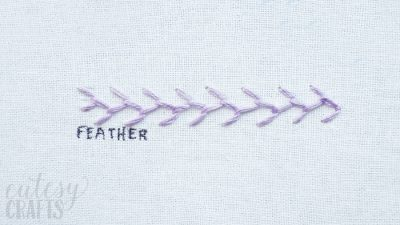 How to do the Feather Stitch