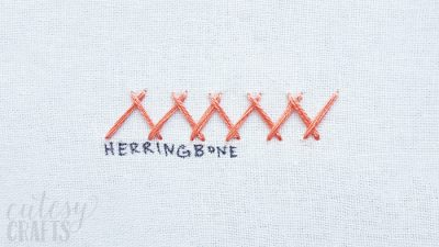 How to do the Herringbone Stitch