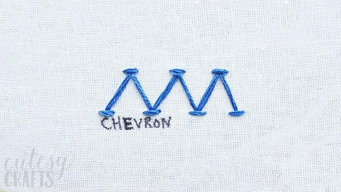 How to do the Chevron Stitch