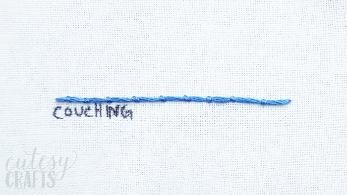 How to do the Couching Stitch