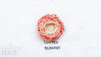 How to Make a Looped Blanket Stitch Flower