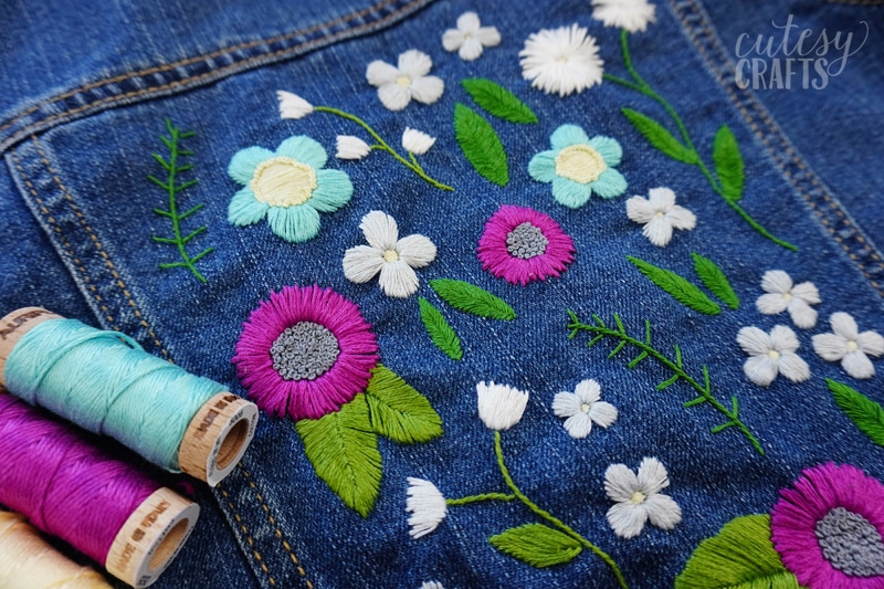 DIY Denim Jacket with Embroidery
