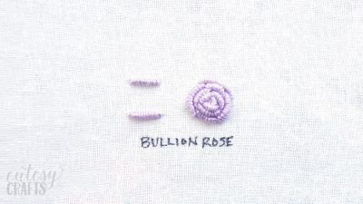 How to Embroider a Rose with Bullion Knots