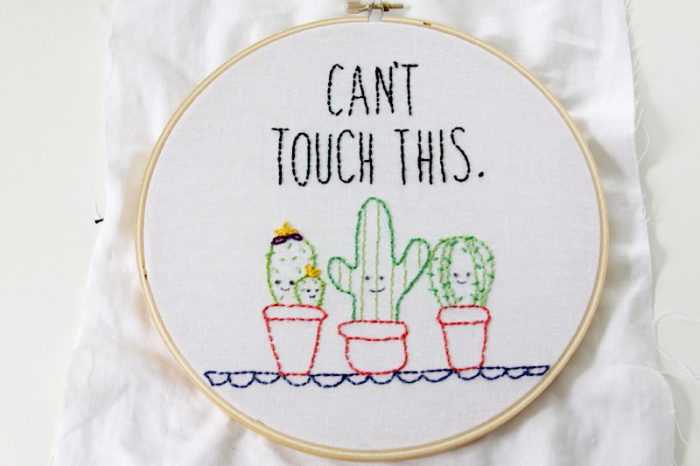 Cactus Embroidery Pattern