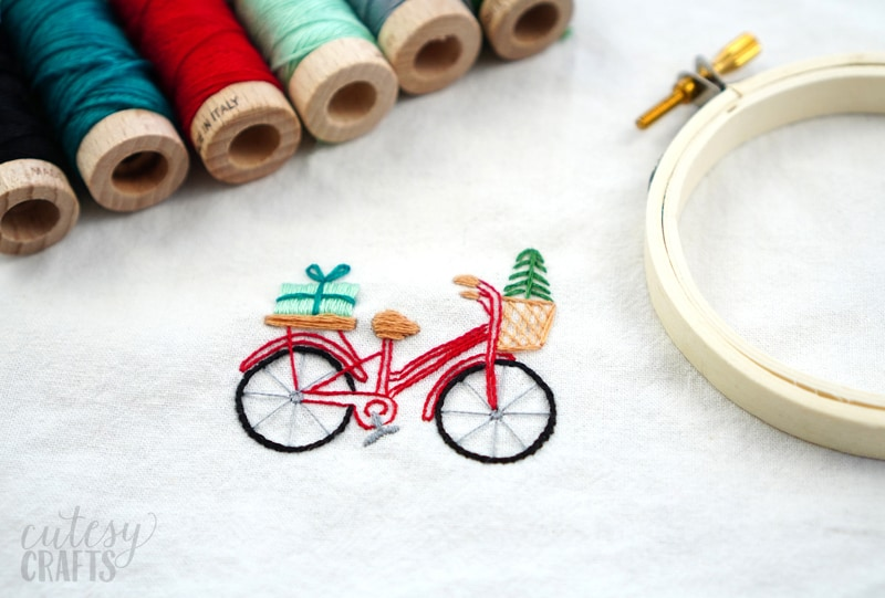 Vintage Bike Embroidery Pattern