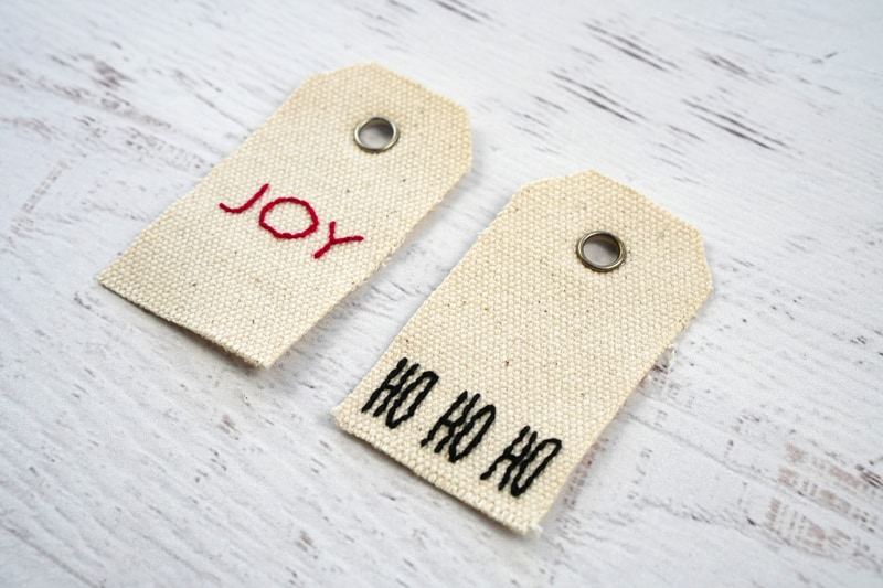 Christmas Embroidery Gift Tags