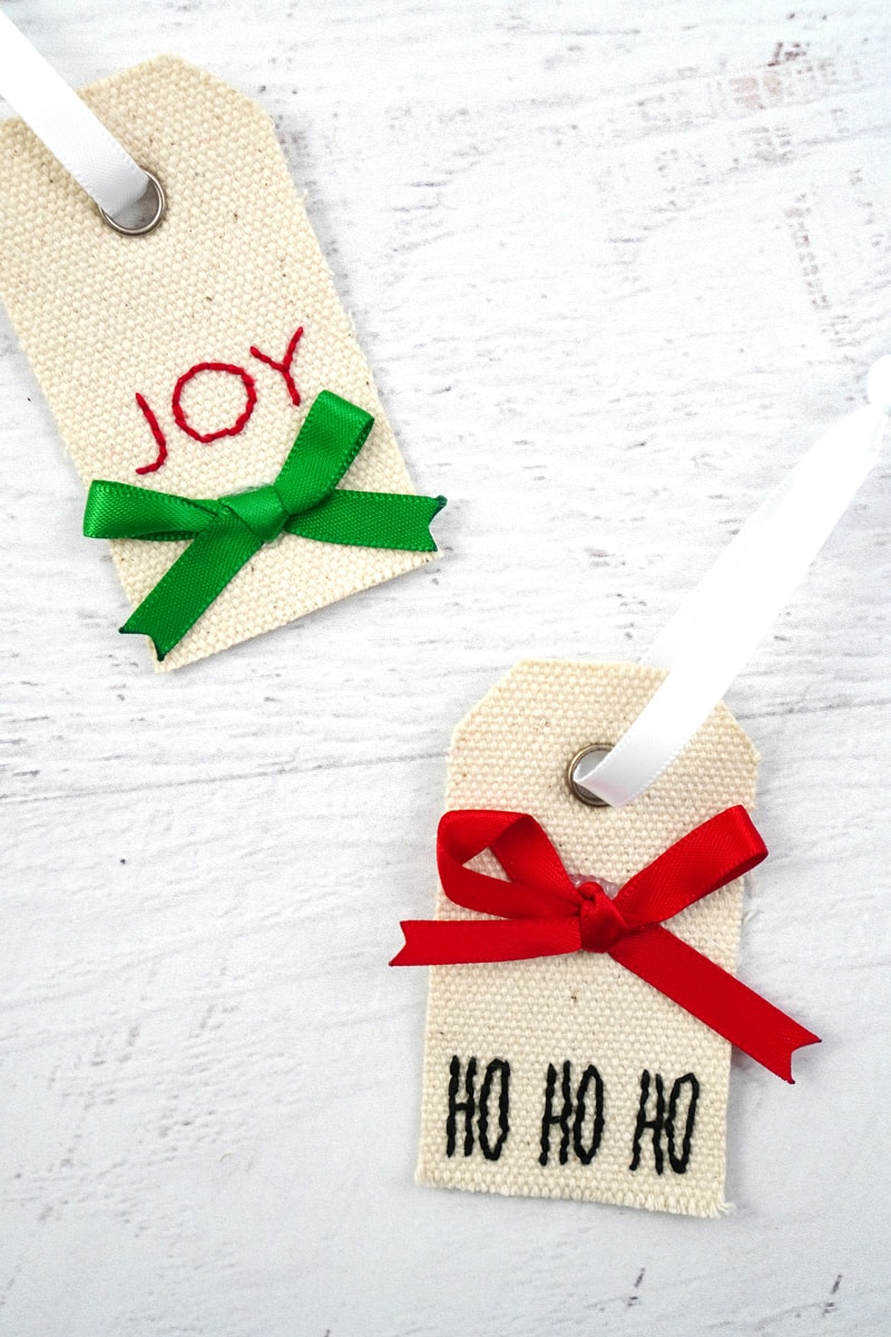 DIY Gift Tag Fabric Ornaments