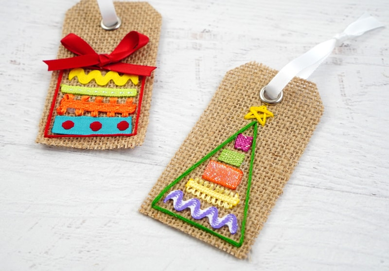 Burlap Gift Tags