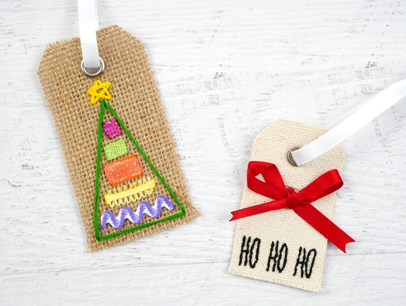 Fabric Christmas Ornaments from Darice Gift Tags
