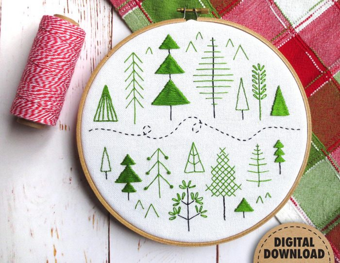Trees Beginner Embroidery Patterns