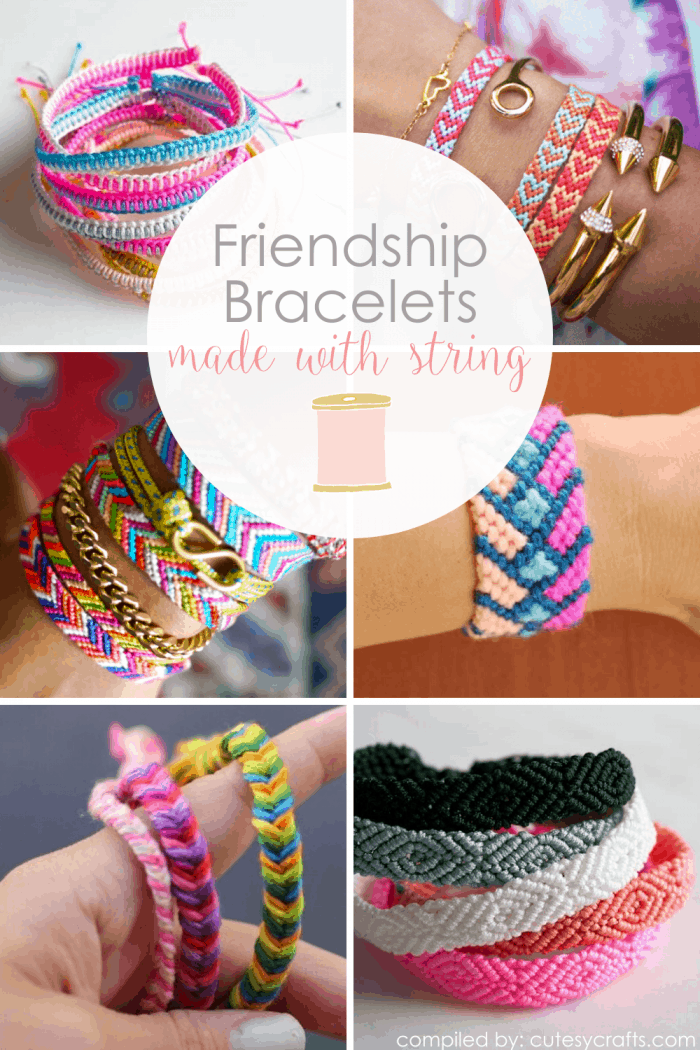 10+ Friendship Bracelets with String
