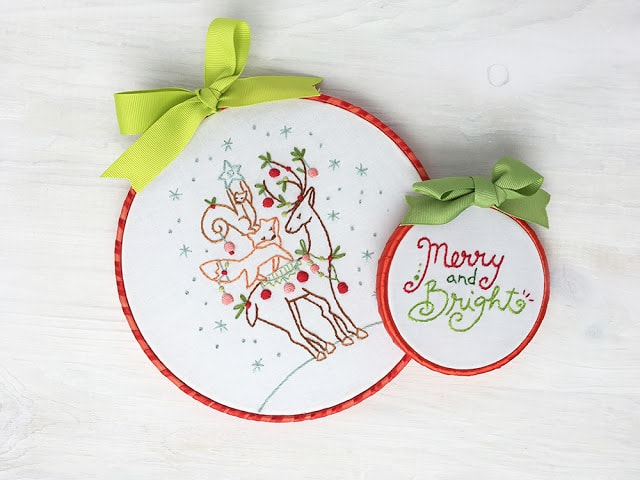Beginner Christmas Embroidery Pattern