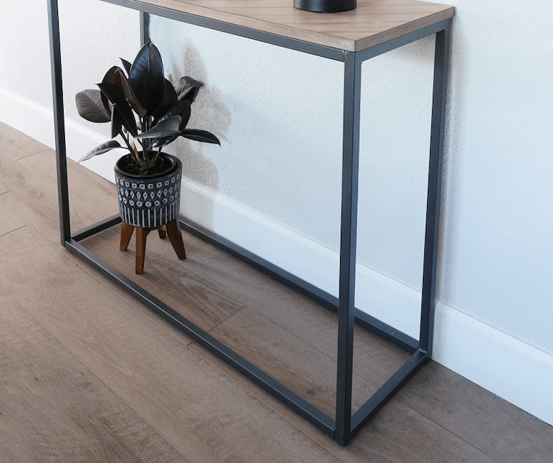 small entry table styling