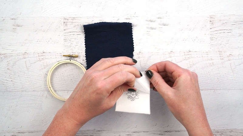 Transferring Embroidery Patterns to Dark Fabric