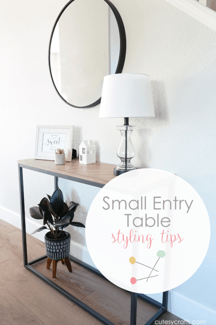 Small Entry Table Styling Tips