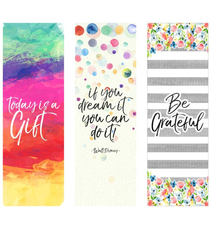 quote printable bookmarks