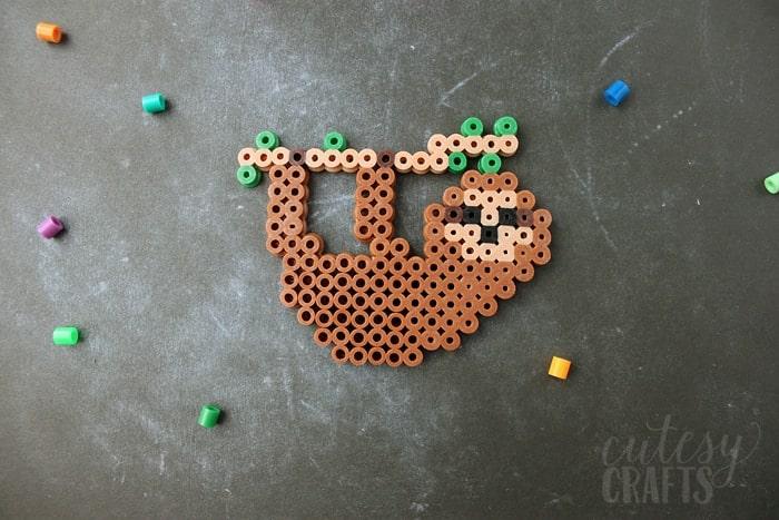 Sloth perler bead idea