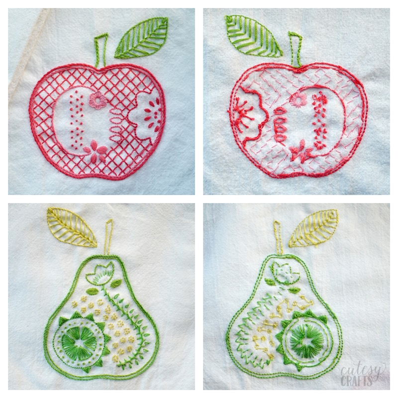How to Embroider Dish Towels