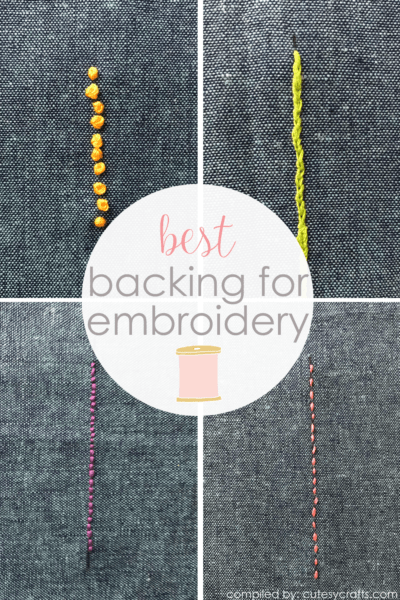 Best Backing for Embroidery