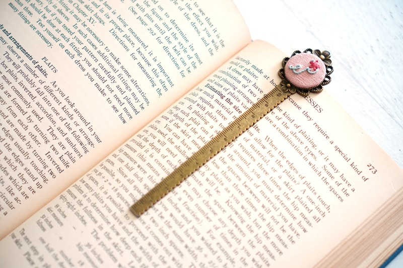 Metal Embroidery DIY Bookmarks