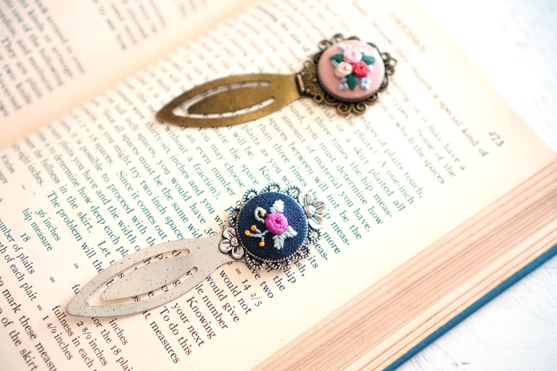 Metal Embroidery Bookmarks