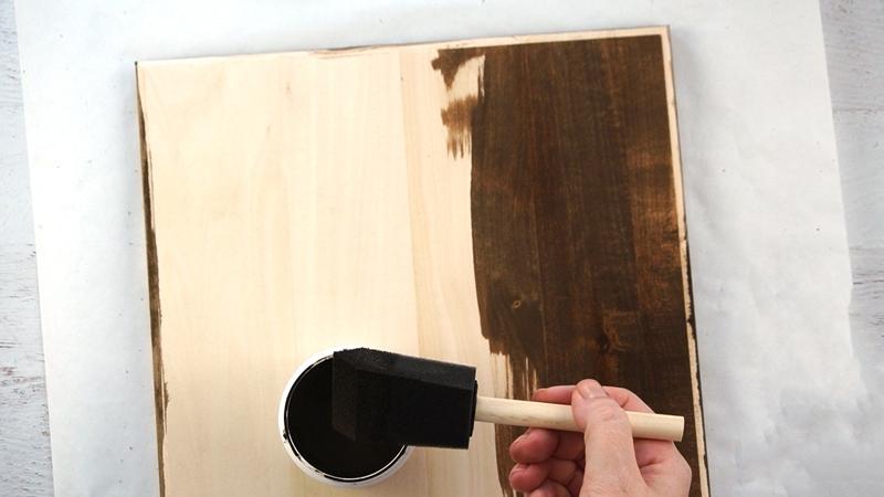 wood stain board