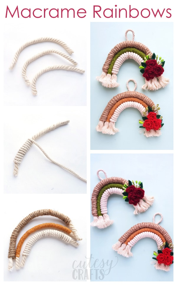 Easy Beginner Macrame Project - Macrame Rainbow