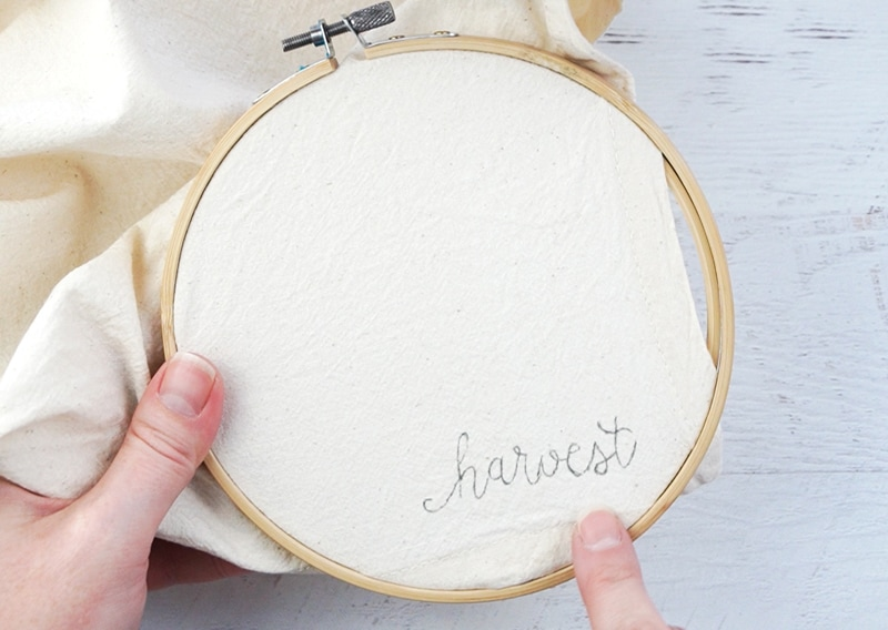 how to embroider on cloth napkins