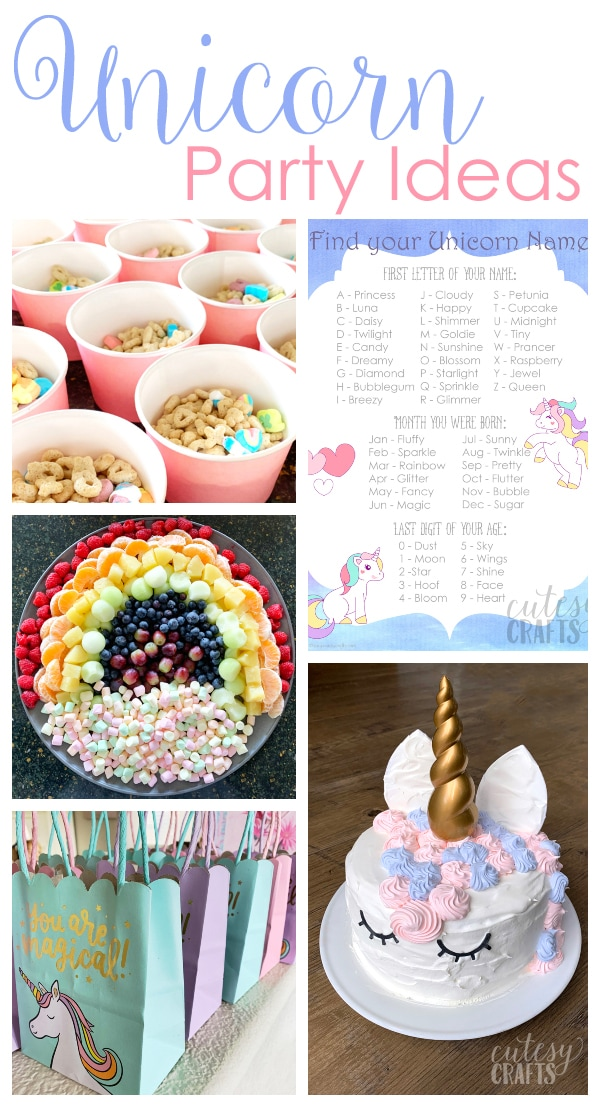 Easy Unicorn Party Ideas