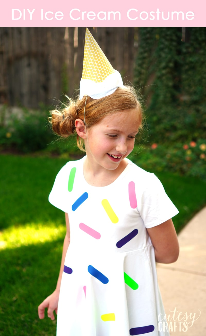 DIY Ice Cream Costume - Great last minute Halloween costume idea!