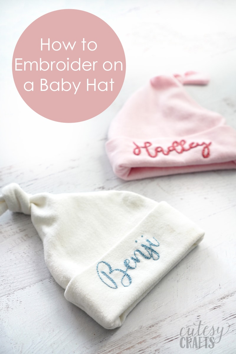 Hand Embroidered Baby Gift - Baby Hats
