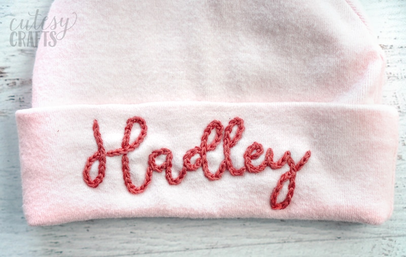 Embroider Baby Name