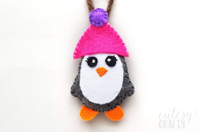 Felt Penguin Ornament with Free Pattern